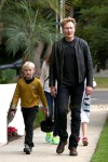 Conan O'Brien takes son Beckett Trick-Or-Treating