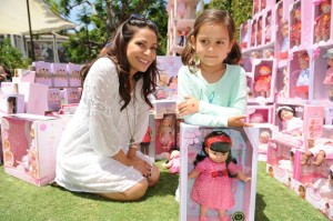 Constance Marie with daughter Luna at the Corolle Event LA