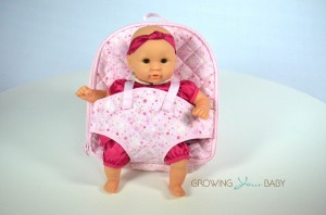 Corolle Mon Premier Diaper Backpack with Calin Doll