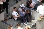 Cristiano Ronaldo & son Cristiano Junior at the Madrid Open