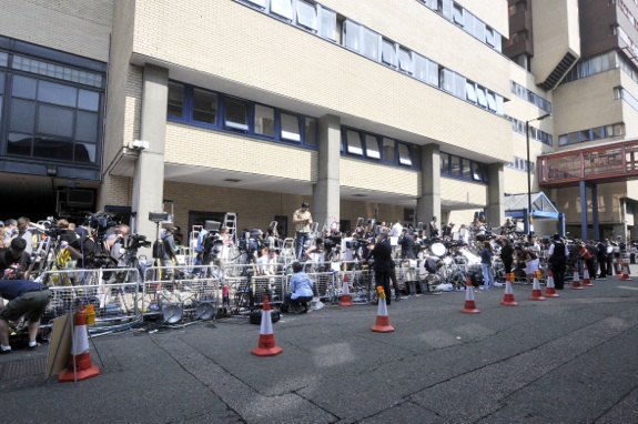 Atmosphere outside St Mary's Hospital in West London