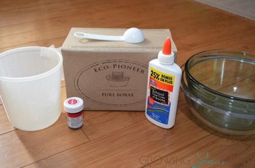 DIY making Slime - what you need