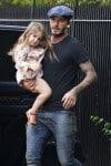 David Beckham Carries Harper in London