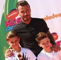 David Beckham & His Boys Attend The Nickelodeon Kids Choice Sports Awards