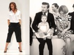 David Beckham and daughter Harper sit front row with Anna Wintour at NYFW