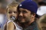 David Beckham takes Harper to the LA Dodgers game