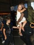 David Beckham with his kids Cruz & Harper at LAX