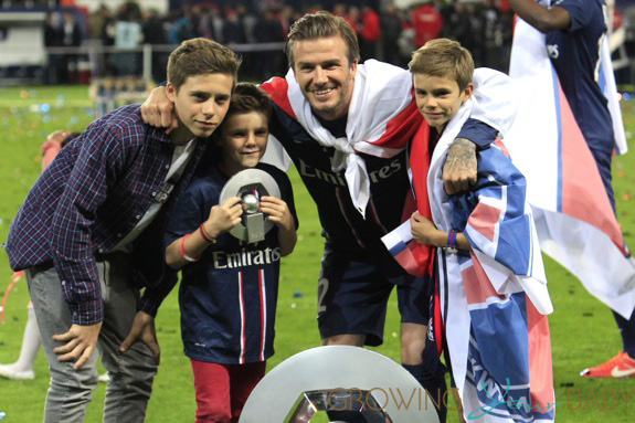 David Beckham during his final home match