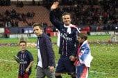 David Beckham during his final home match