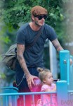 David Beckham enjoys some play time at the park with daughter Harper in New York City