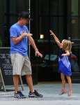 David Spade steps out in NYC with daughter Harper