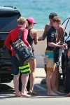David and Brooklyn Beckham at the beach in Malibu