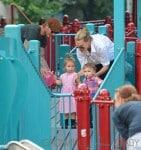 David Beckham Takes Daughter Harper To The Park