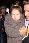 David and Harper Beckham arriving at Balthazar Restaurant in SoHo NYFW14