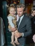 David and Harper Beckham leave Balthazar Restaurant