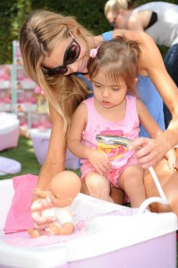 Denise Richards & Eloise at Corolle Event at the Grove LA