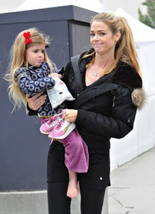 Denise Richards out skating in Santa Monica with daughters Sam and Lola