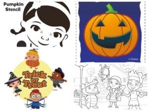 Disney Junior Halloween printables