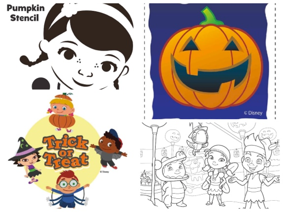 Disney Junior Halloween printables