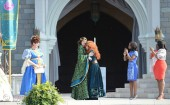 """Disney Pixar animated film """"Brave"""" is crowned a Disney Princess by her mother Queen Elinor"""