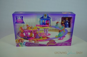 Disney Princess Glitter Glider Castle Playset - packaging