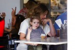 Drew Barrymore has lunch with her daughter Olive Kopelman