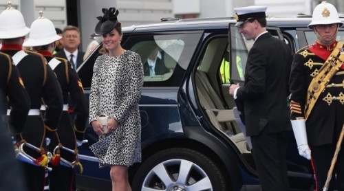 Duchess of Cambridge, Catherine Middleton arrives at Christening of Royal Princess