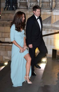Duchess of Cambridge arrives at the Wildlife Photographer of The Year 2014 Awards Ceremony