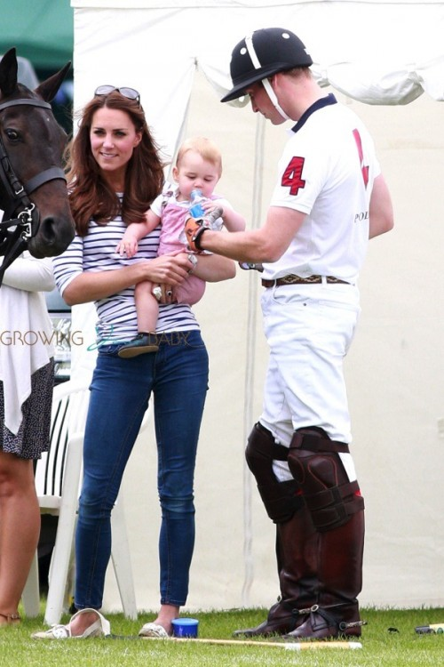 Duke & Duchess of Cambridge with baby George at  playing polo at Cirencester Park Polo Club in Cirencester, United Kingdom
