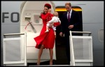 Duke and Duchess of Cambridge arrive in New Zealand with Prince George