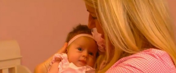 Edita Tracey with her baby girl