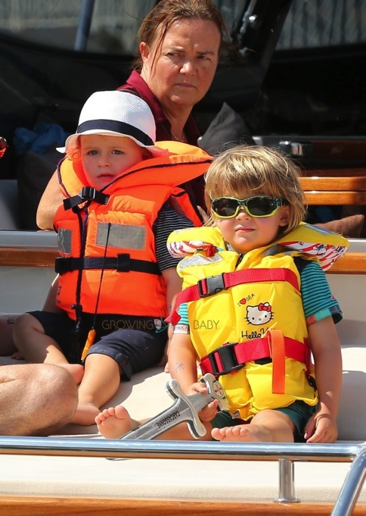 Elijah and Zachary Furnish-John on a yacht in St. Tropez