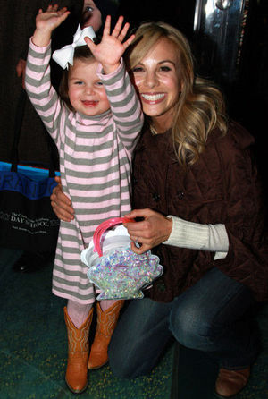Elisabeth Hasselbeck with daughter Grace at Little Mermaid