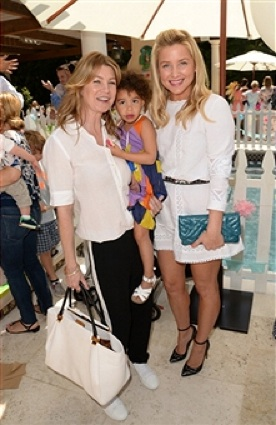 Ellen Pompeo, Jessica Capshaw and stella Luna at the Baby2Baby event in LA