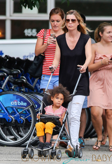 Ellen Pompeo Out For A Stroll With Her Daughter
