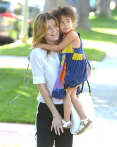 Ellen Pompeo and her daughter Stella go to the Huggies Snug and Dry and Baby2Baby Mother's Day Garden Party