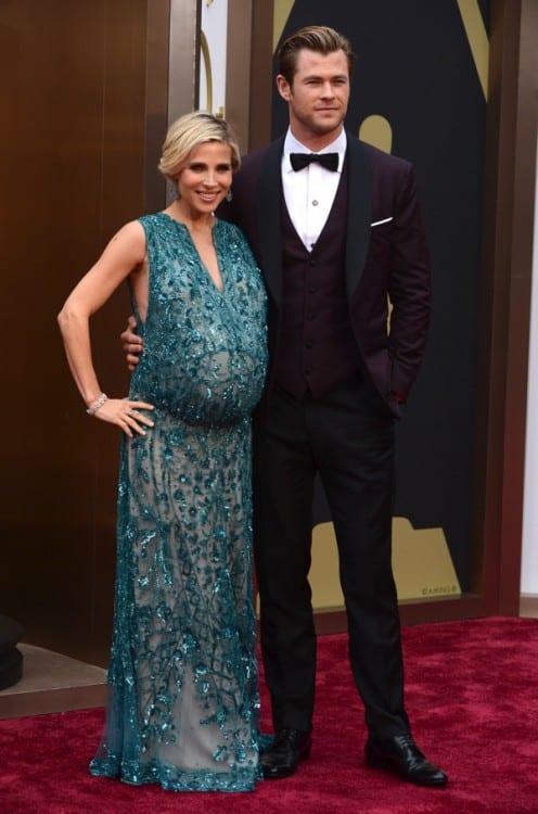 Elsa Pataky & Chris Hemsworth - 86th annual Academy Awards