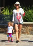 Elsa Pataky with daughter India Hemsworth in Malibu