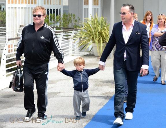 Elton John And David Furnish Visit Venice With Their Boys