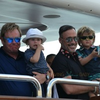 Elton John and David Furnish Vacation in St. Tropez With Their Boys!