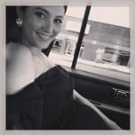 Emma Heming on her way to Vanity Fair Party
