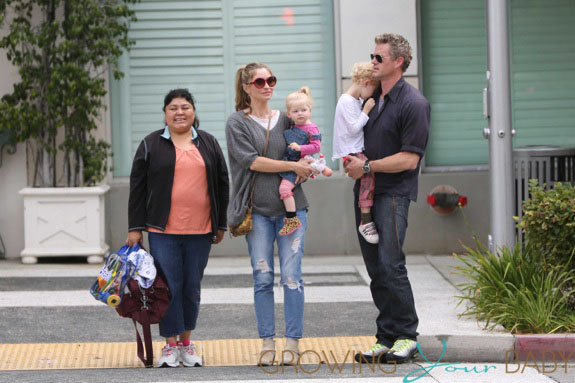 Rebecca Gayheart out with Eric Dane and both kids for breakfast in Los Angeles