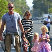 Eric Dane and Rebecca Gayheart Hit The Market with Their Girls
