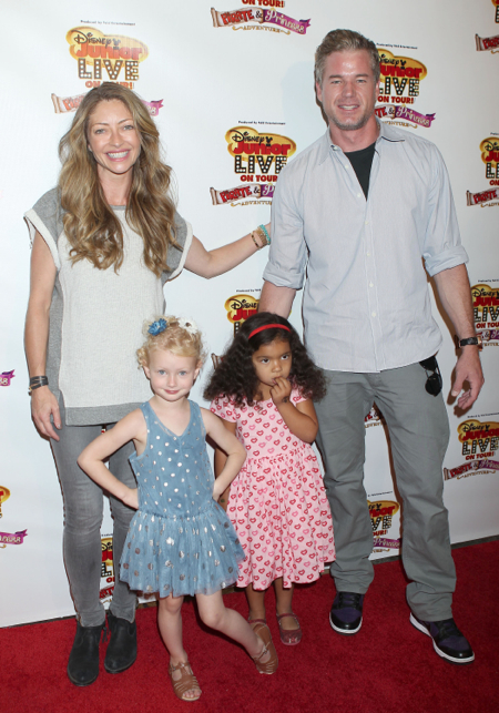 Eric Dane and Rebecca Gayheart with daughter Billie at Disney Junior Live On Tour!