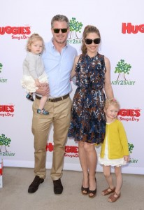 Eric Dane and Rebecca Gayheart with their daughter Billie and Georgia at the Baby2Baby event in LA