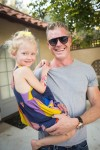 Eric Dane with daughter Billie at Soleil Moon Frye's book release Party