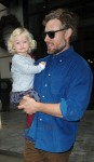 Eric Johnson and daughter Maxwell leave their NYC hotel