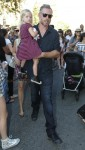 Eric Johnson with daughter Maxwell in LA