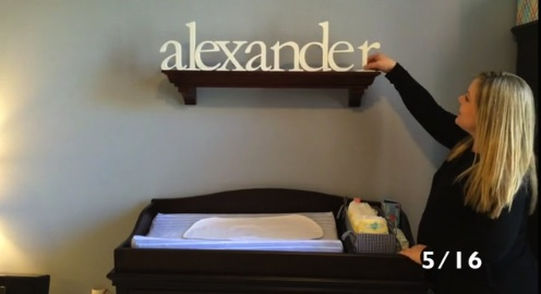Erin Marshall getting baby Alexander's nursery together