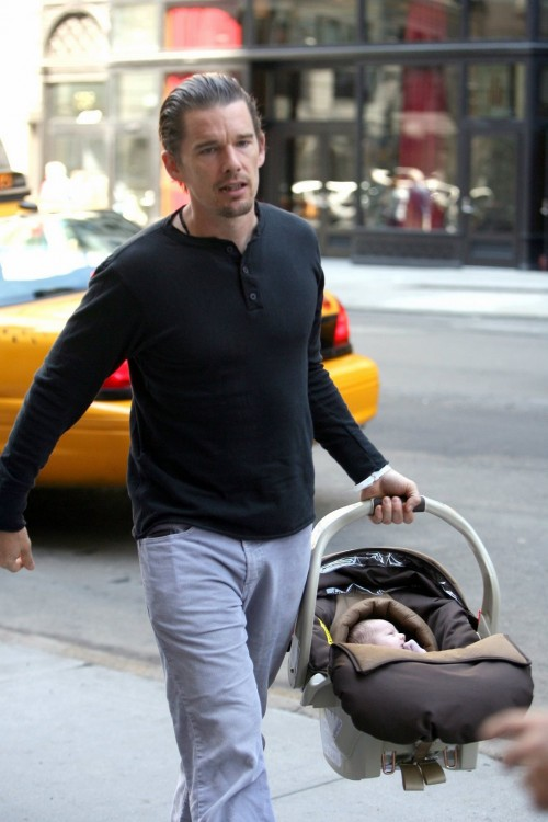 Ethan Out With baby Clementine